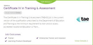Certificate IV in Training and Assessment Adelaide